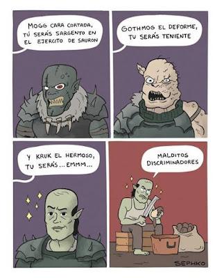 Meme de humor sobre Tolkien