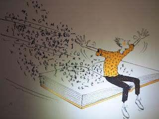 Il·lustració del llibre: Tomàs Lluc. Llibre dels oficis : 44 retrats 44 (per anar pensant el que farem quan serem grans), 2013  Il.: Cristina Losantos ISBN: 9788498835458  per Teresa Grau Ros