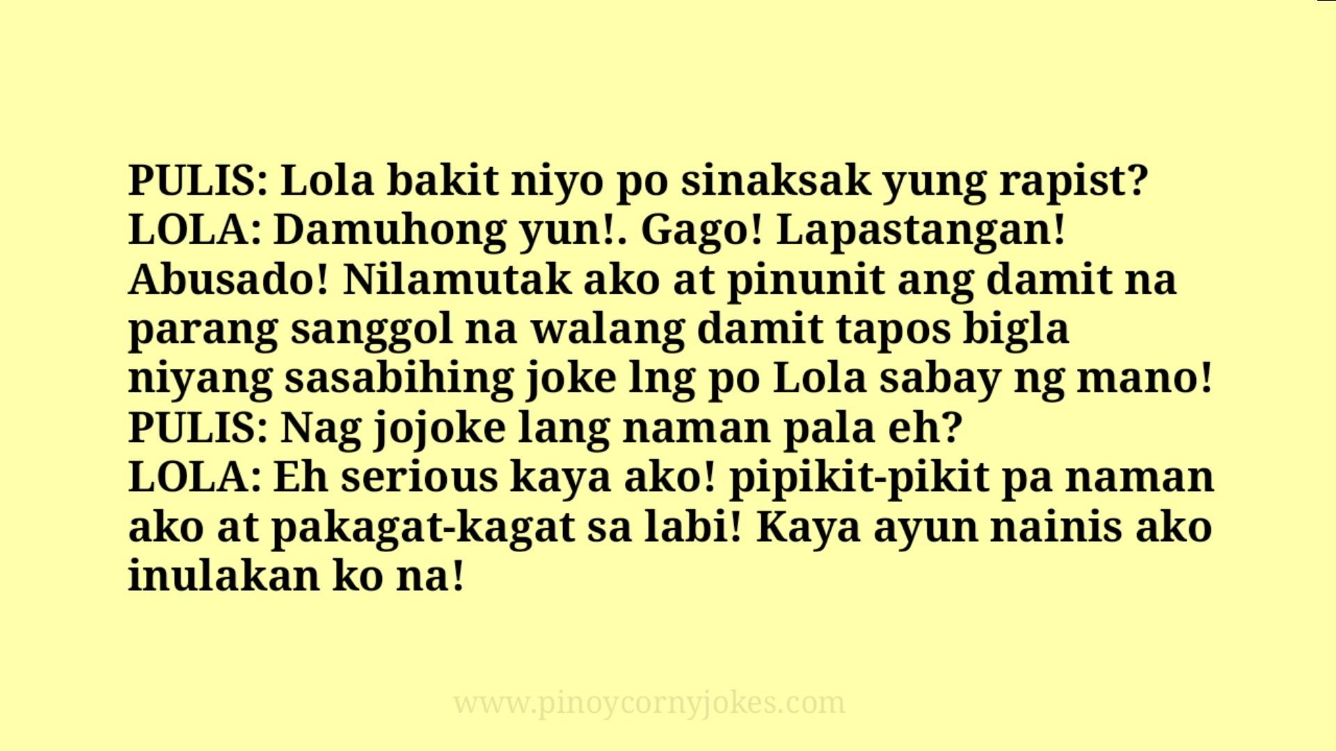 lola pinoy jokes police
