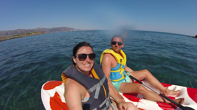Mark and Claire Gale Kayaking in Crete