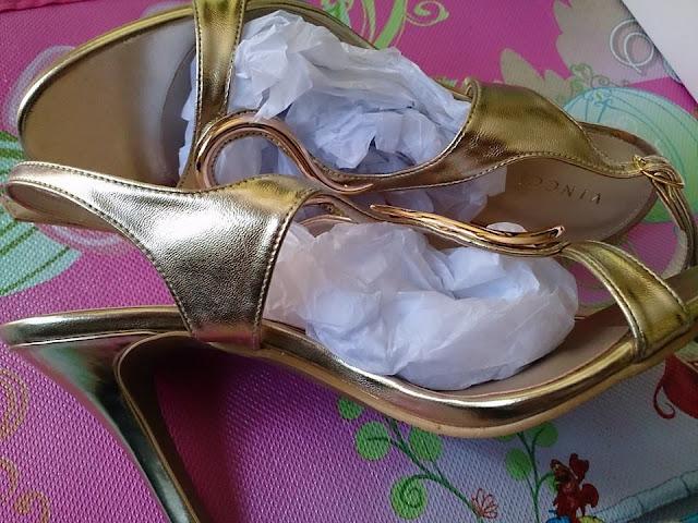 Jual Sandal Vincci High Heels Warna Gold