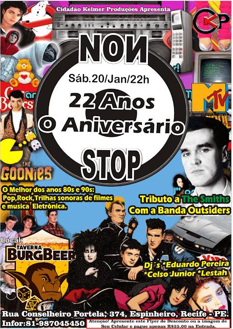 Bar Geek no Recife terá Trilhas de filmes anos 80s e 90s agitando a cidade na Festa dos 22 anos da Non Stop.