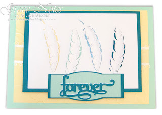 """Forever"" feather sympathy card and poem by Grace Baxter"