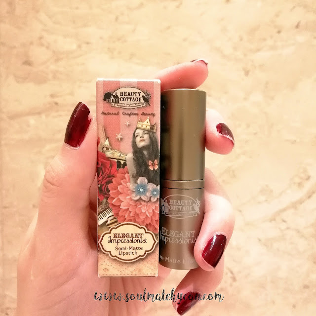 Review; Beauty Cottage's Elegant Impressionist Semi-Matte Lipstick No.09 BYZANTINE