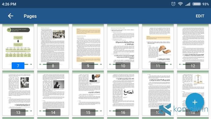 thumbnail xodo membaca pdf di android