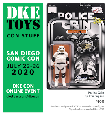 San Diego Comic-Con 2020 Exclusive Police Grin Resin Figure by Ron English x DKE Toys