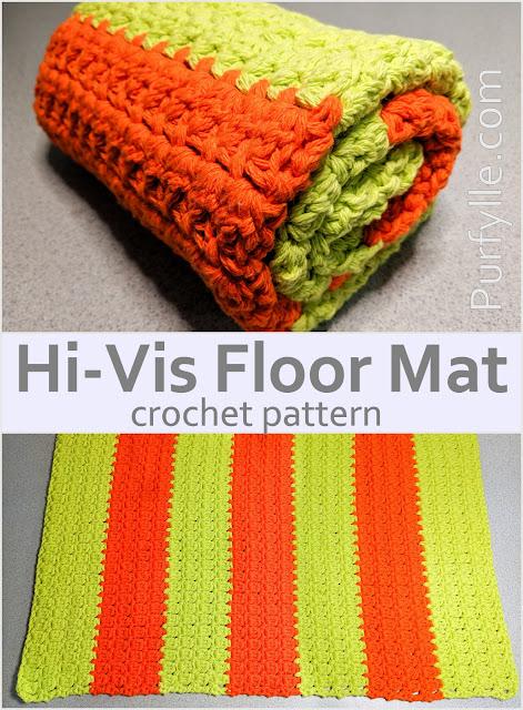 Hi Visibility Floor Mat Easy Crochet Pattern