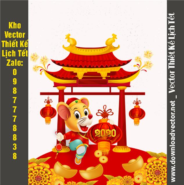 Vector chuột vàng 2020