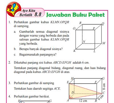 Kunci Jawaban Buku Paket Matematika Kelas 8 Ayo Kita Berlatih 8.8 Halaman 213 214  www.jawabanbukupaket.com
