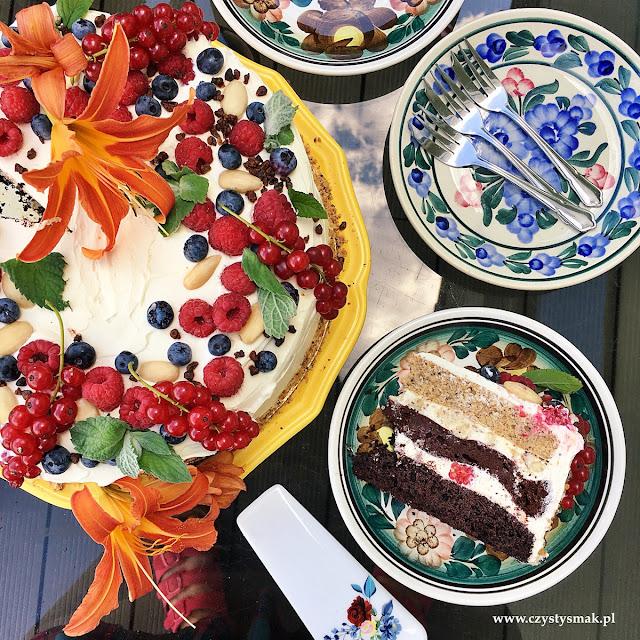 Keto tort z biszkoptem