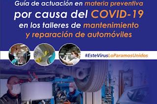 Guía de actuación preventiva para el regreso a la actividad de los talleres durante la crisis del coronavirus