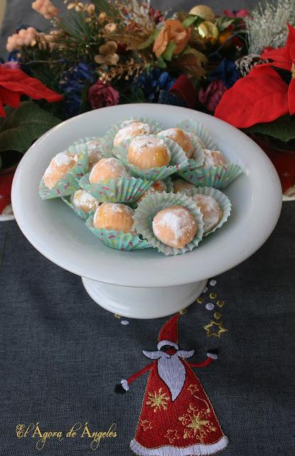trufas, naranja,chocolate blanco, navidad