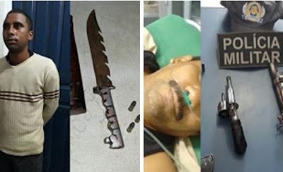 Pai e Filho são presos pela Polícia Militar em Magalhães de Almeida com 3 armas de fogo