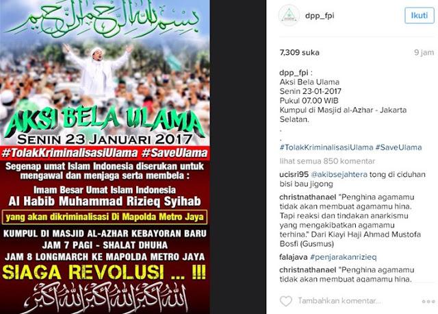 Pesan Berantai Berbahaya di Whatsapp Terkait Pemeriksaan Habib Rizieq Besok !!
