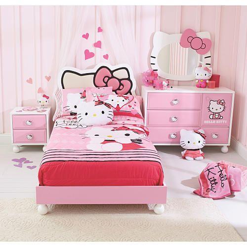 Trang tri phong ngu Hello Kitty dep 21