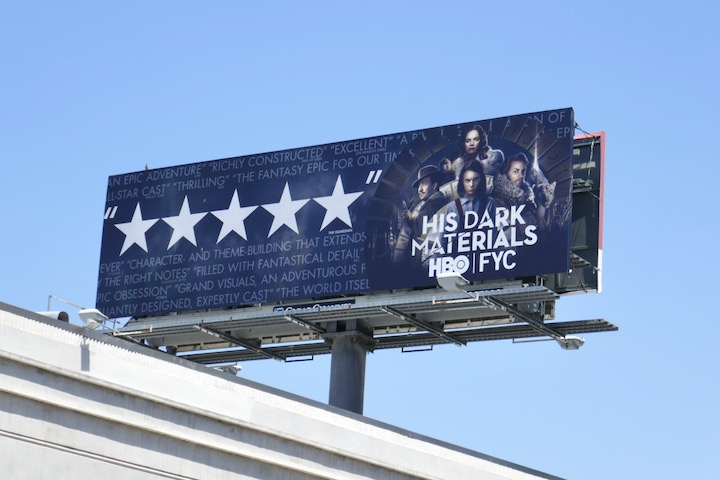 His Dark Materials Emmy FYC billboard