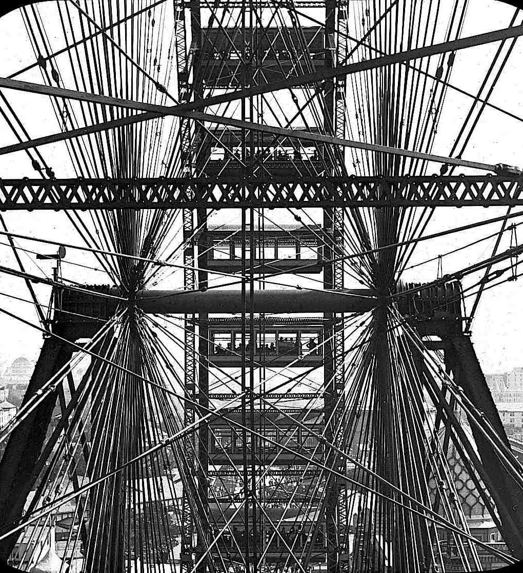 the Ferris Wheel at the 1893 Chicago World's Fair, a photograph