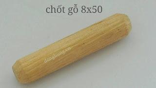 Chốt gỗ cao su 8x50mm