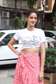 Ananya Panday Stills at  Pati Patni Aur Woh Movie Promotion