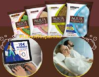 Logo Aqua Massage ti regala shopping card QVC come premio certo e vinci Ingressi Spa Elemis