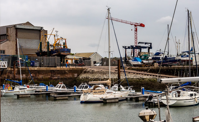 Phot of cloudy weather at Maryport Marina yesterday (Thursday)