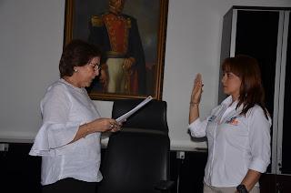Jimena Abril De Angelis,  designada como alcaldesa  encargada de Santa Marta