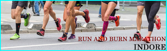 Run And Burn Marathon in Indore, indore run for burn