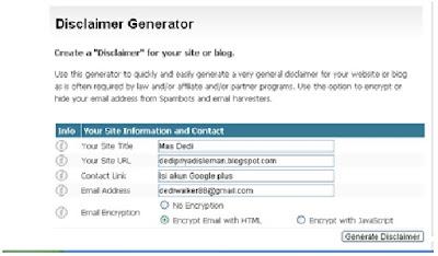 Cara Membuat Disclaimer Pada Blogspot Tercepat