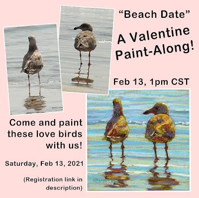 Valentine Beach Date Paint-Along ad