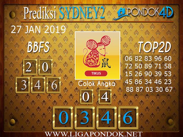 Prediksi Togel SYDNEY2 PONDOK4D 27 JANUARI 2019