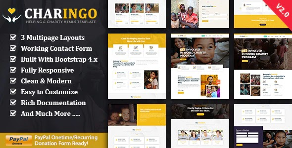 Best Nonprofit Charity HTML5 Template