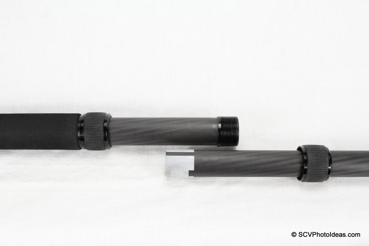 Triopo GL-70 CF Monopod - leg sections dismantled