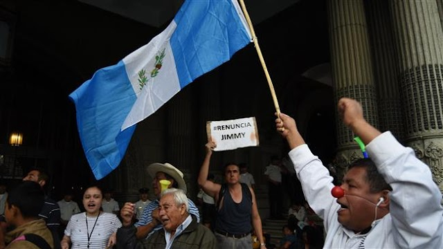Guatemalan protesters demand President Jimmy Morales' ouster over corruption
