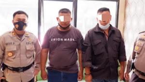 Ngeri, Dua oknum Polisi diamankan diduga kawal timses