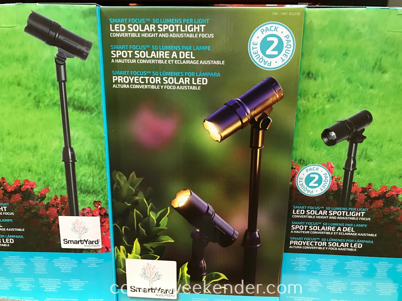 Get more lighting and add some curb appeal to your home with the Alpan SmartYard Smart Focus LED Solar Spotlight