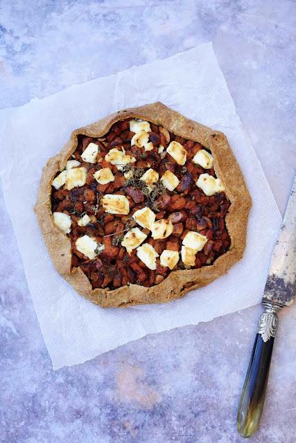 tarte facile , sucré/salé , pâte brisée à la farine d'épeautre