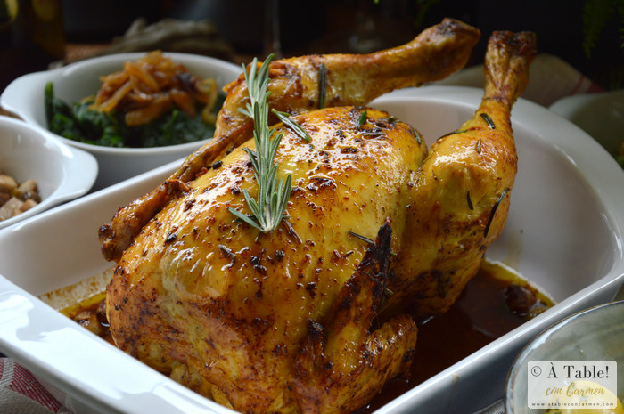Pollo asado al estilo Joël Robuchon