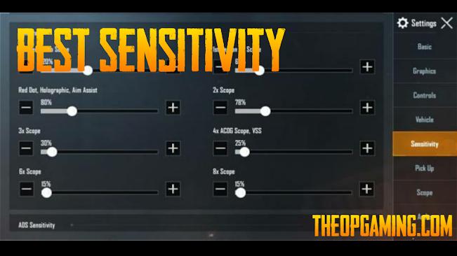 Best Sensitivity Setting for PUBG Mobile