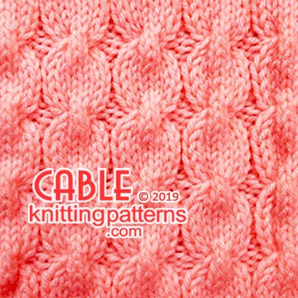 Knit Aran Stitches, Free #Knitting Pattern