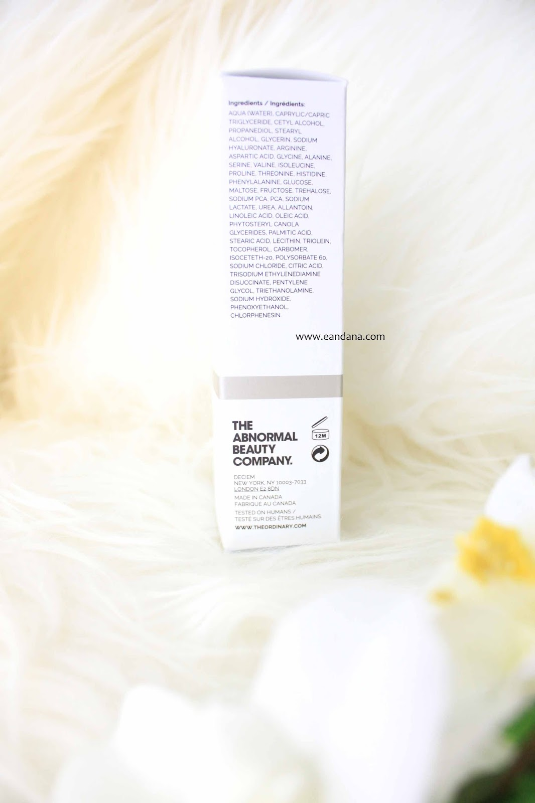 the ordinary natural moisturizing factors HA ingredients
