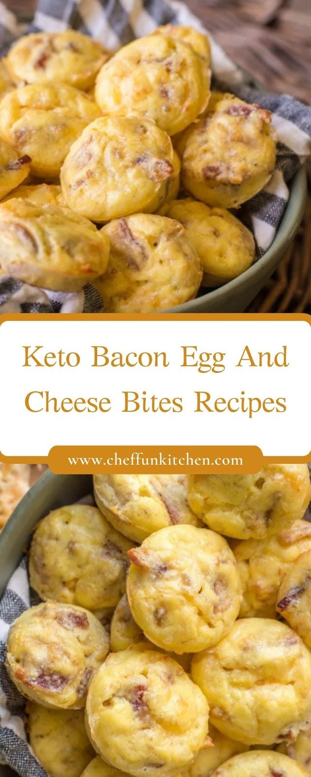 Keto Bacon Egg And Cheese Bites Recipes