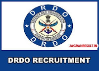 DRDO Recruitment 2019 www.jagranresult.in