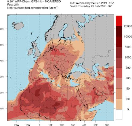 Αφρικανική σκόνη: Επιβαρυντική για τον ανθρώπινο οργανισμό και για το περιβάλλον