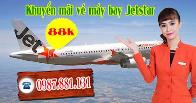 Bán vé máy bay Jetstar khuyến mãi giá 88k ngày 25/11/2016