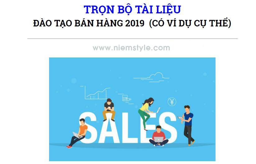 Chia sẻ mẫu đào tạo bán hàng 2019 miễn phí