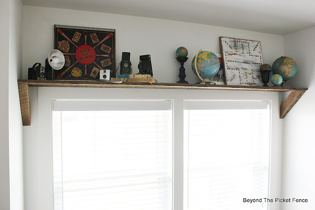 Reclaimed Wood Window Shelf
