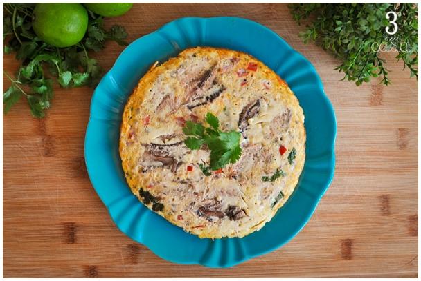 omelete de sardinha fitness