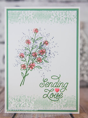 Sending Love with Touches of Texture made using Stampin' Up! UK supplies - buy Stampin' Up! here in the UK