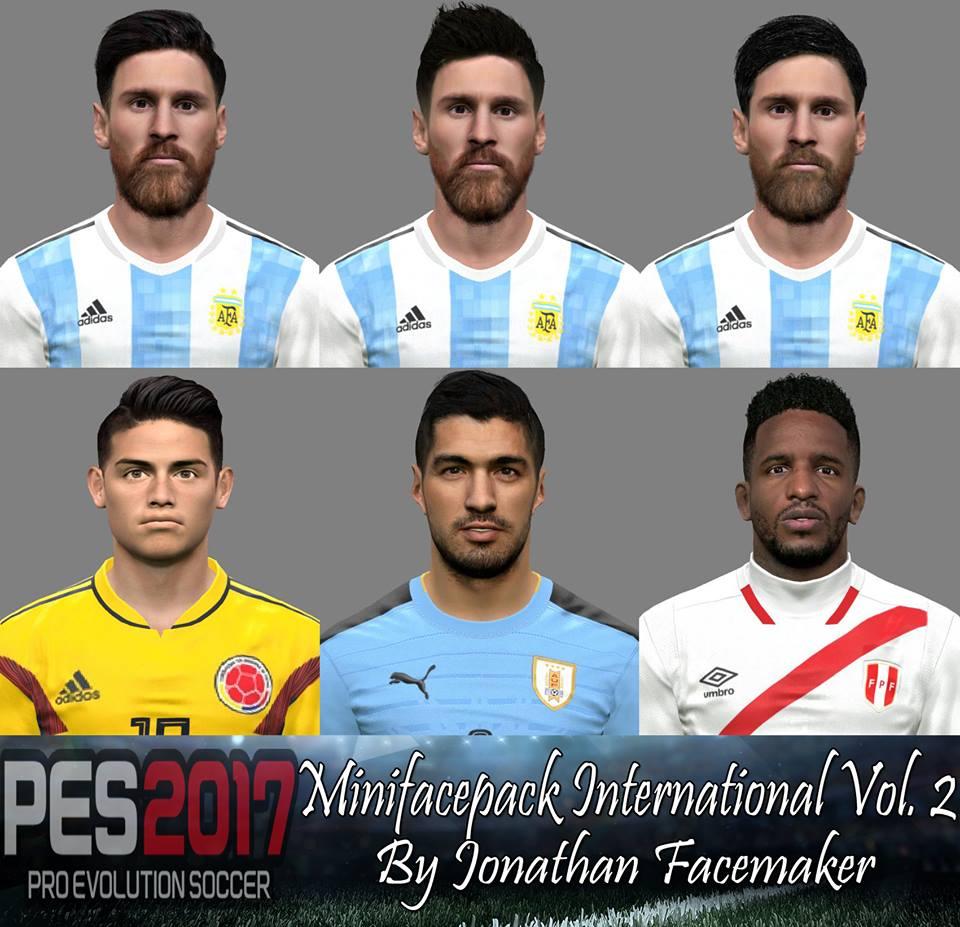 PES 2017 Minifacepack International Vol. 2 By Jonathan Facemaker
