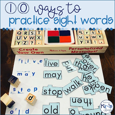 Sight word practice in special education